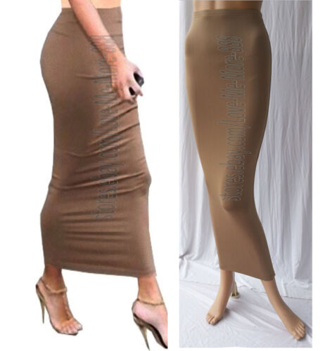 Fitted Small Casual Club Slim Solid Tight Skirts Maxi Tube Long Tan Dress Party anW7Zpx