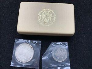 1966-Ionian-Islands-Greek-Saint-Dennis-Zante-50-100-Aspra-2-Coin-Proof-Set