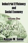 Industrial Efficiency and Social Economy (Volume One) by Nassau W Senior (Paperback / softback, 2003)