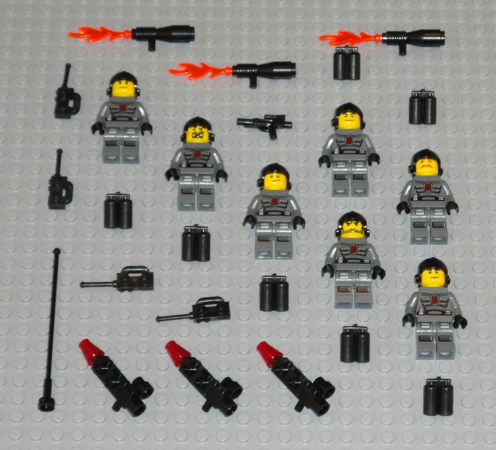 LEGO Minifigures 7 Space Marines Army Army Army People Blasters Police Minifigs Halo Guys 9005d4