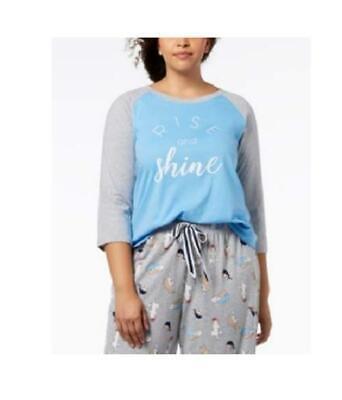 Jenni by Jennifer Moore Womens Long Sleeve Pocket Sleep Shirt