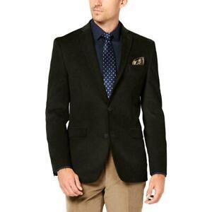 Bar III Mens Blazer Dark Brown Size 38 Corduroy Slim Fit Two-Button $295 #032