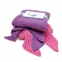 Mermaid Blanket Tail Knit Crochet Warm Soft Sleeping Bag Throw 71x36 Adults