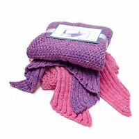 Mermaid Blanket Tail Knit Crochet Warm Soft Sleeping Bag Throw 71x36 Adults