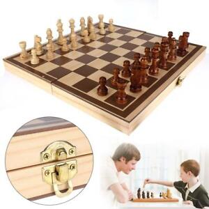 Portable-New-Large-Chess-Board-Travel-Wooden-Set-Folding-Chessboard-Board-Craft