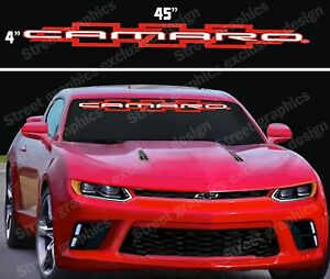 Camaro Windshield Vinyl Decal Sticker 2 Colors Ebay