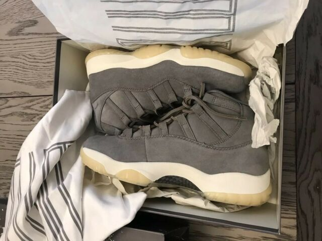 the cheapest low price sale on feet shots of New Air Jordan 11 XI Retro PREMIUM Pinnacle Grey Suede Size 10.5 914433 003