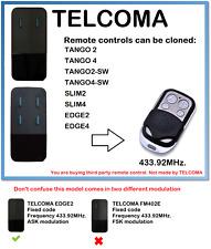 TELCOMA EDGE2, TELCOMA EDGE4 Remote Control Duplicator 433.92MHz.