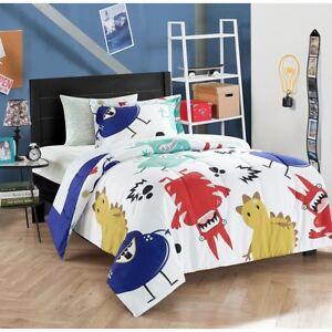 Kids-Twin-Size-Comforter-Set-Monster-Theme-1-Comforter-1-Standard-Sham