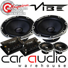 "Vibe Blackair63C-V6B 780 Watts a Pair 6.5"" 3 Way Component Kit Door Car Speakers"