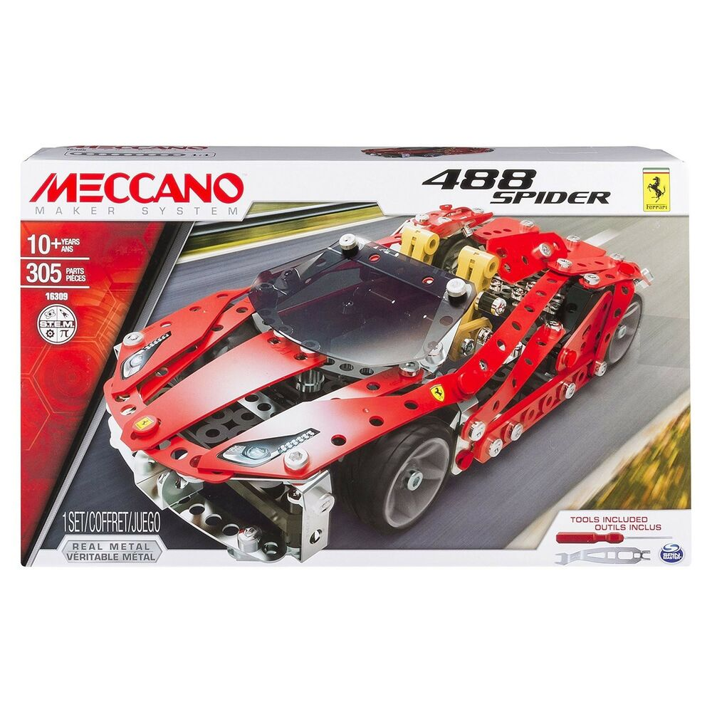 Meccano Kit Lot Ferrari 488 Spider Gt Originelle Spin Master 6028974 New Neuf