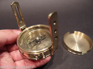 Antique-Vintage-Style-Brass-Encampment-amp-Fortification-Surveyors-Compass