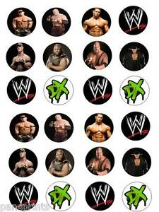wwe cake toppers 24x edible cupcake cake toppers decoration birthday 1503