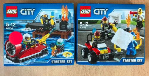 LE BATEAU SECOURS LOT DE 2 BOITE SET LEGO CITY 60088 60106 LES POMPIERS