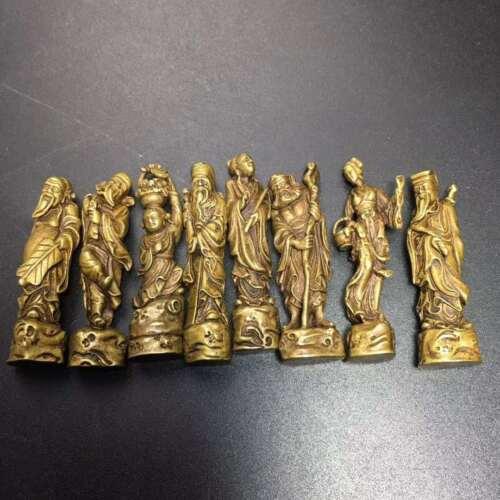 Ba Xian Chinese Eight Immortals Brass statue
