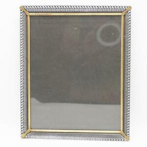 "Vintage Picture Frame Metal Filigree Desktop w/ Glass for 8""x10"""