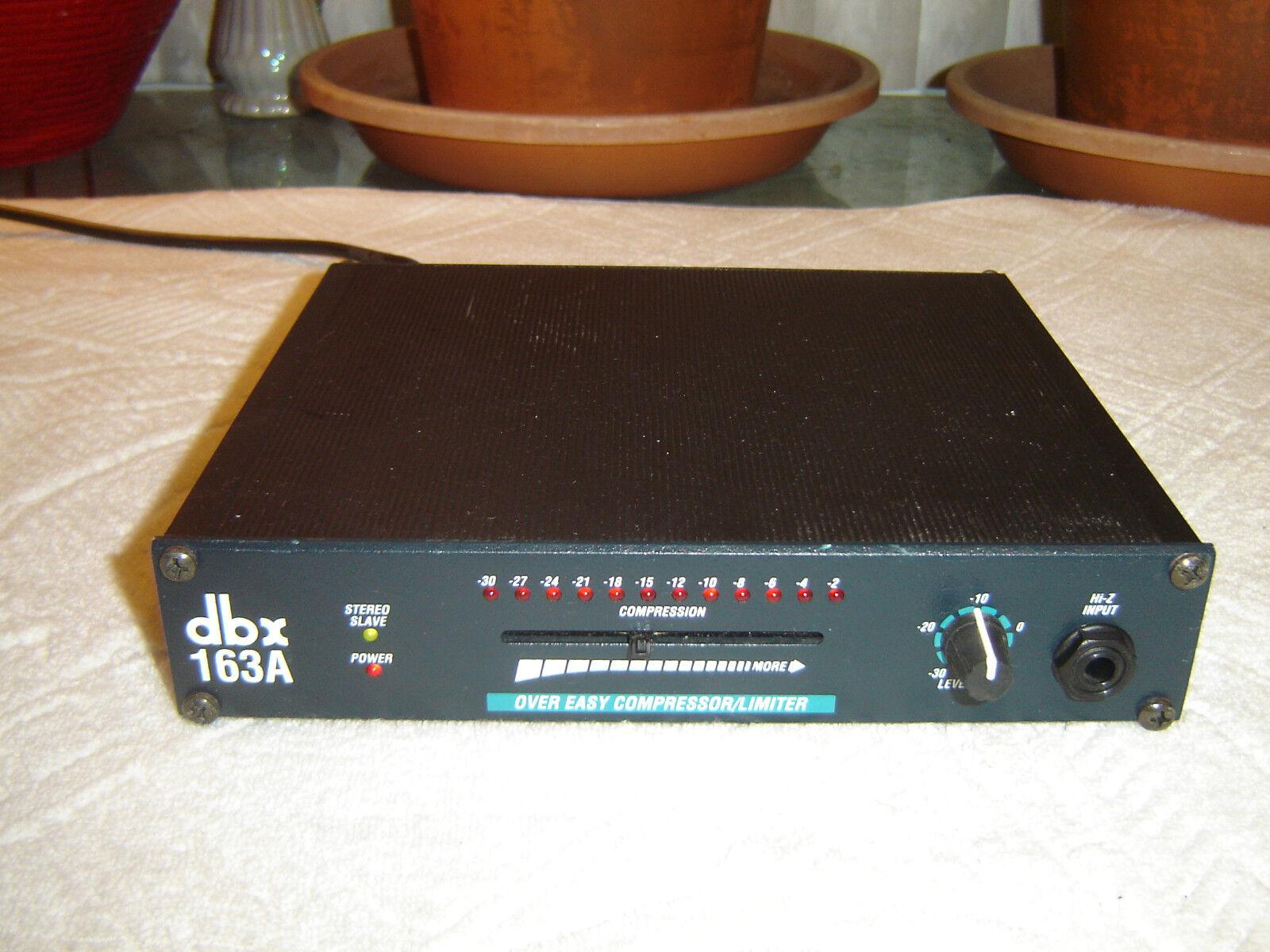 DBX 163A, Over Easy Compressor   Limiter, Vintage