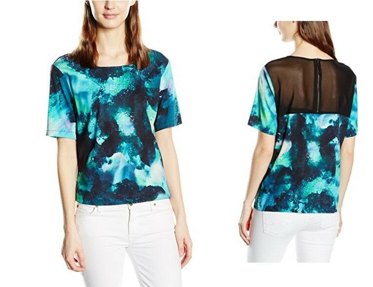 Nümph Women's Ea Blouse Short Sleeve Shirt - Sea Green - BNWT UK SIze 8 RRP