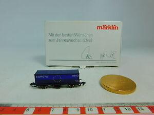 AU600-0-5-Maerklin-mini-club-Z-Containerwagen-Jahreswechsel-92-93-Ecu-s-g-OVP
