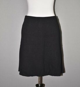 ANN-TAYLOR-88-Black-Stretch-Knit-A-line-Skirt-Above-Knee-Size-6P