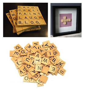 100 stk scrabble ersatzteile holz buchstaben mit zahlen spielzubehoer brettspiel ebay. Black Bedroom Furniture Sets. Home Design Ideas