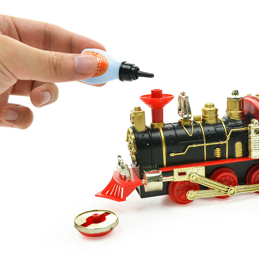 Remote Control Classic Electric Train Set w    Lights Sounds & Real Smoke - B dab8b5