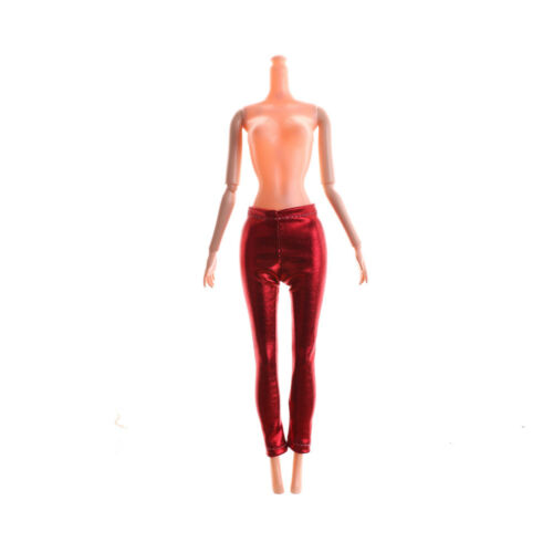 Elastic Candy Color Leather Bottom Pants For  Doll Clothes Trousers JB