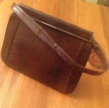 Vintage Alligator Handbag Purse  Brown 40s 50s