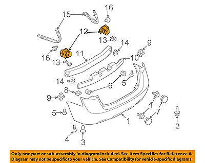 NISSAN OEM 08-13 Rogue Front Bumper-Side Bracket Right 62222JM00A