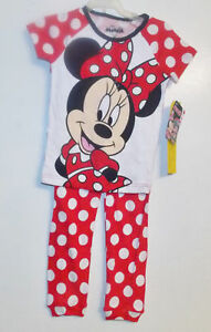 Selfless Disney Minnie Mouse Toddler Girls 2pc Pajama Set Pj's Sizes 3t 4t Or 5t Nwt Sleepwear