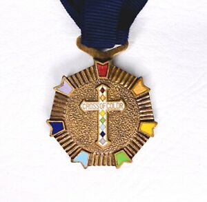 VINTAGE-Masonic-GRAND-CROSS-OF-COLOR-Rainbow-order-for-GIRLS-MERIT-BADGE