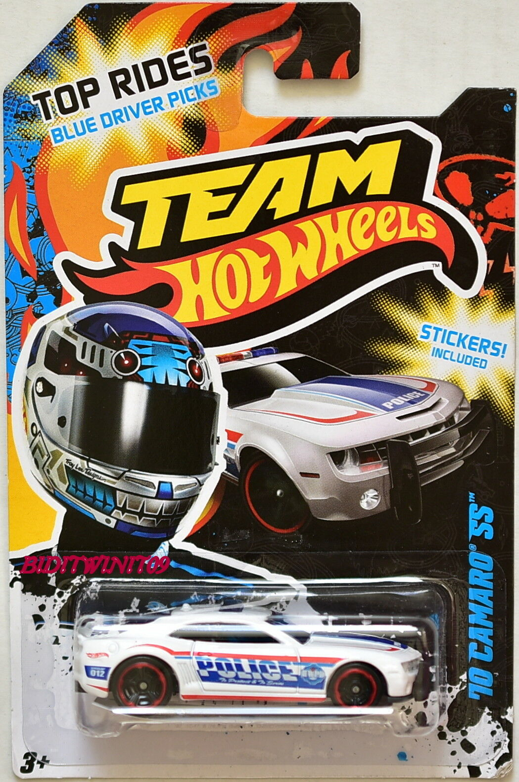 Hot Wheels Equipo 2012 Top Top Top paseos'10 Camaro Ss Policía blancoo W + eea021