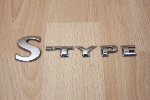 "Jaguar S-TYPE 2002-2007 Badge coffre /""Type S/"""