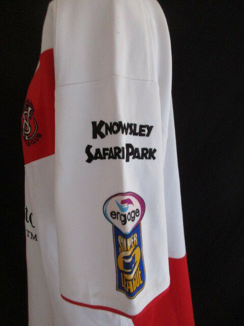 Raro maglia da da da rugby vintage XIII usato St HELENS N°9 Super League Puma Taglia 704098