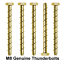 M8 X 150 mm Original Pernos De Anclaje Concreto Mampostería Thunderbolt Tornillo Zinc Amarillo