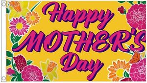 Responsable Happy Mother's Day Mothering Sunday 5' X 3' Flag Officiel 2019