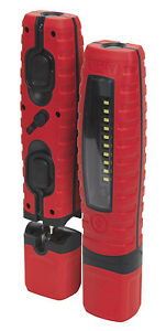 SUPER-SAVER-RED-SEALEY-360-LED-INSPECTION-HAND-LAMP-TORCH-RECHARGEABLE