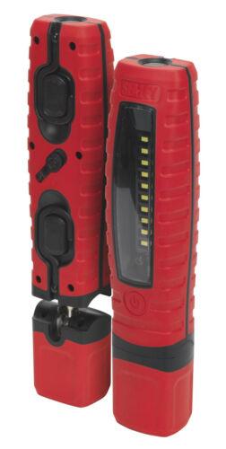 par rechargeable menée main Torche de d'économiseur d'inspection Sealey rouge de rouge superbe lampe x0IwwHY1dq