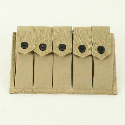 US WW2 Thompson Magazine Pouch holds 5 x 20rd mags. Repro webbing AG316