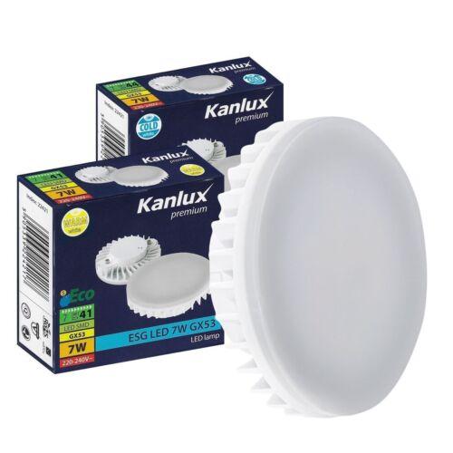 6.5W GX53 LED Lightbulb 3000k or 6500K Warm Cool White Daylight Light Bulb Lamp
