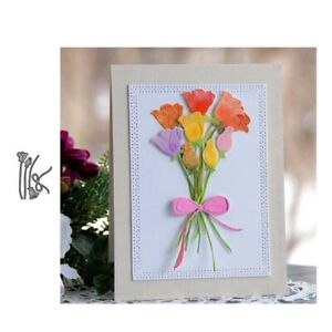 Stanzschablone-Rose-Blume-Hochzeit-Weihnachts-Oster-Geburtstag-Album-Karte-DIY
