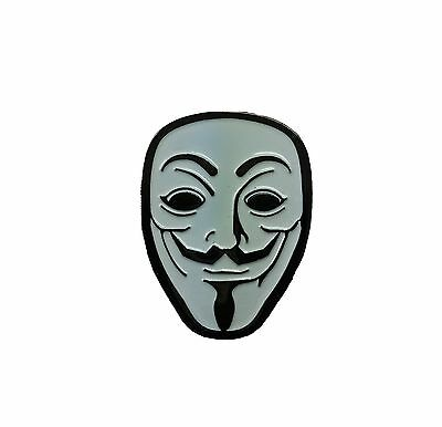 Hat pin 49 - Anonymous Mask - RARE!! Limited Headdy 420 710 Dab Glassblowing LSD