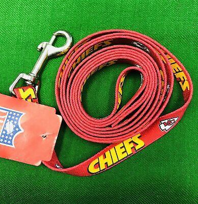 Kansas City Chiefs Pet Dog Premium 6ft Nylon Leash Lead Licensed SMALL