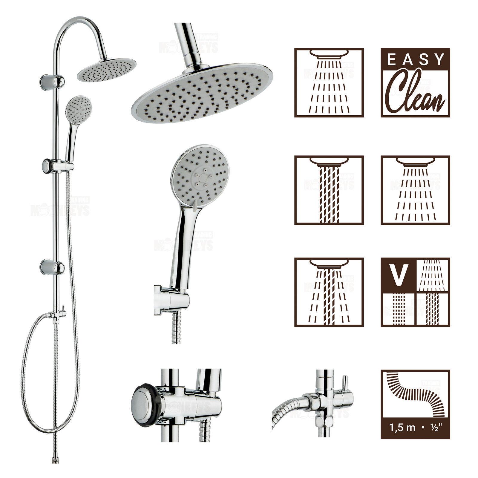 Überkopfbrause Set  548 Regendusche Duschset Duschsäule Kopfbrause Handbrause | Passend In Der Farbe  | Verwendet in der Haltbarkeit  | Wirtschaftlich und praktisch  | Smart