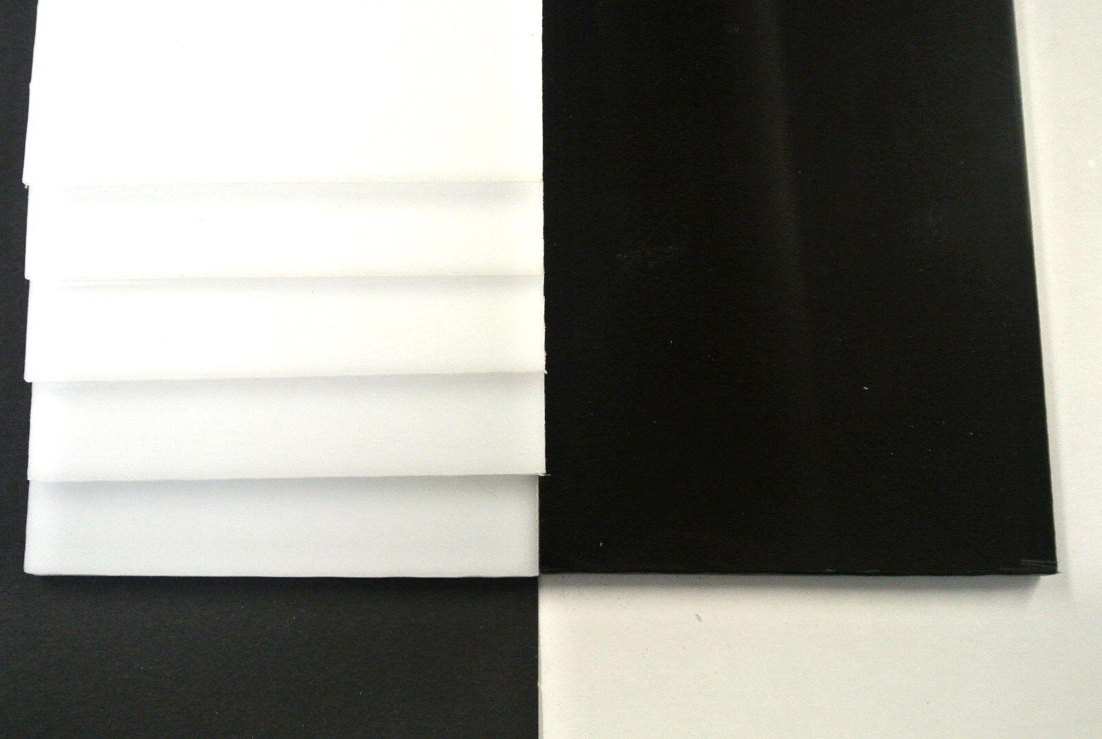 Acetal Flat Black White Engineering Plastic Sheet 2mm-12mm Thick Various Lengths
