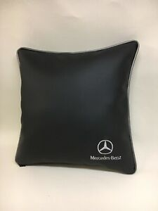 Faux-Leather-Mercedes-Benz-17-Cushion-Cover-With-Fibre-Filled-Inner-Brand-New