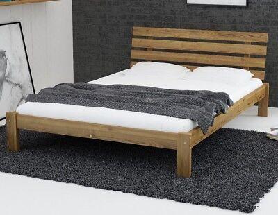 Wooden Pine Oak Wood Bed Frame With Mattress Slats Set 3ft