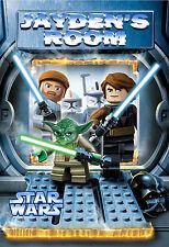 059 LEGO STAR WARS LUKE SKYWALKER YODA CUSTOMIZED DOOR ROOM POSTER