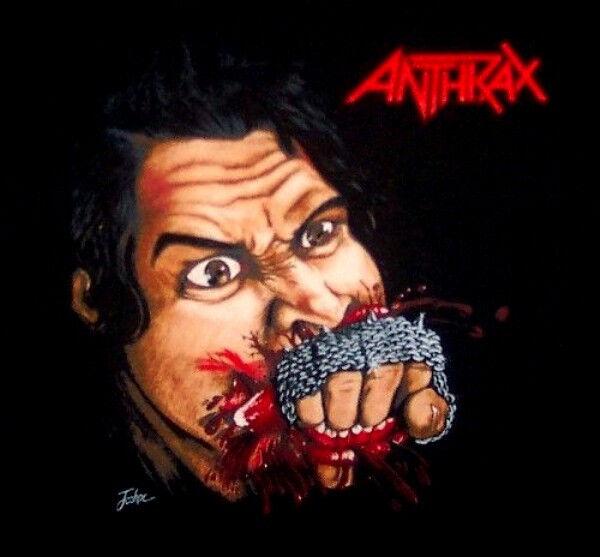 ANTHRAX cd cvr FISTFUL OF METAL Official SHIRT L@@K XL New oop