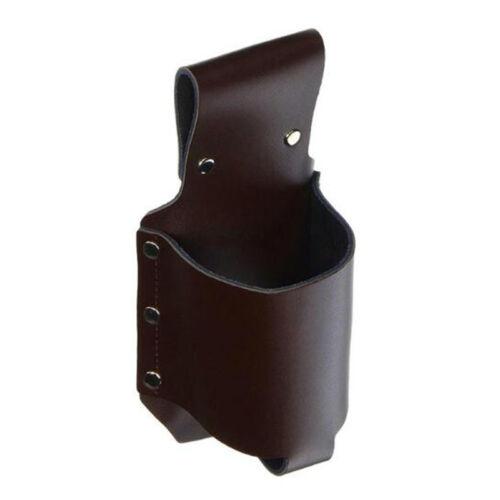 PU Leather Beverage Bottle Messenger Belt Waist Bag Hook Fanny Pack Black WE